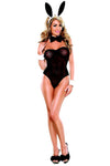 Plus Size Hot Angel Bedtime Bunny - Black