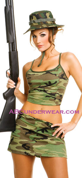 3pc Camouflage Outfit Costume - Closeout