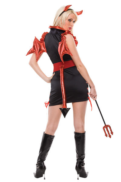 Sexy Lady Lucifer Costume - Closeout Pricing