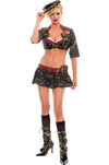Sexy Military Girl Costume-Closeout