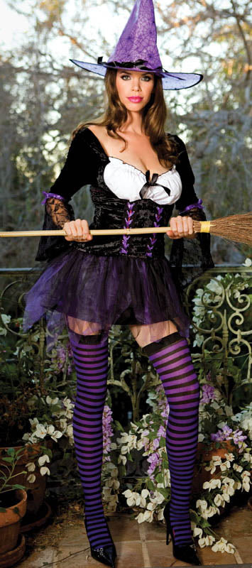 Sexy Purple Witch Costume - Closeout
