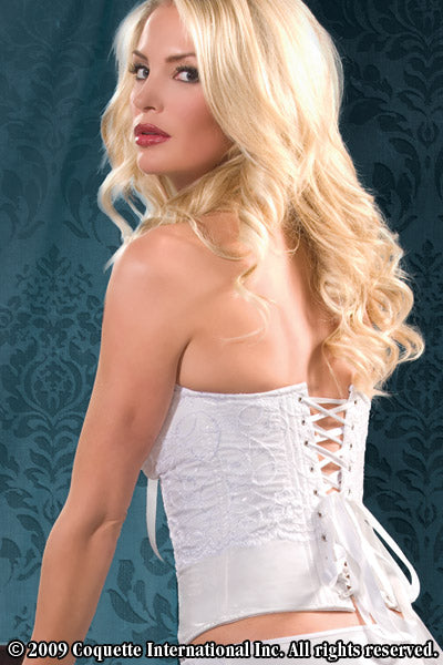Satin White PVC & Lace Corset