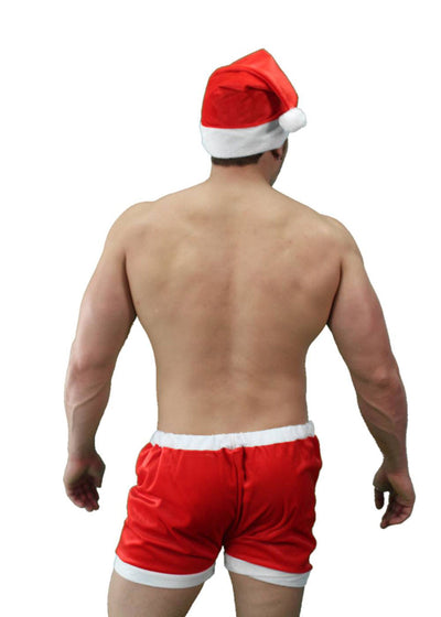 Man's Holiday Boxer Set Sexy Santa for Men