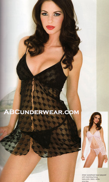 Sheer Sweetheart Lace Babydoll