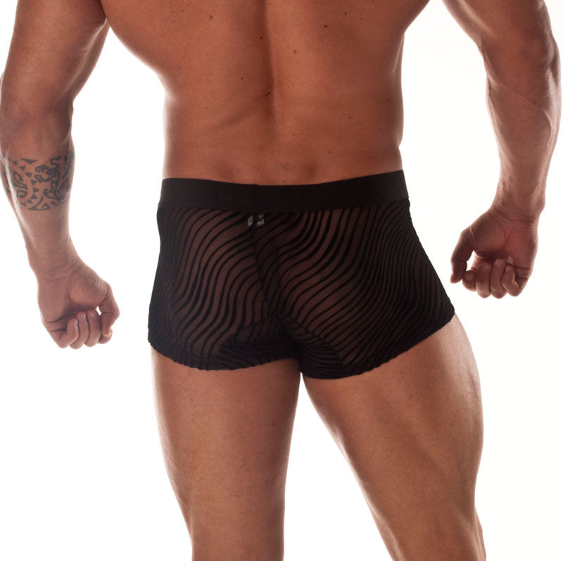 Sheer Black Panther Stripe Mini Boxer