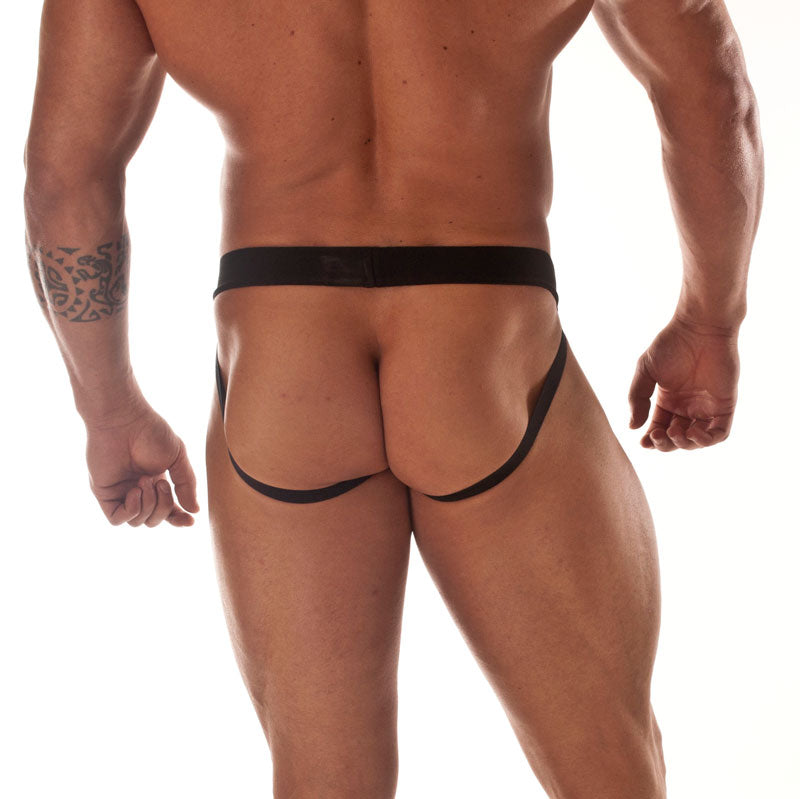 Sheer Black Panther Stripe JockStrap