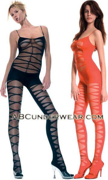 Sheer designed Crotchless Bodystocking