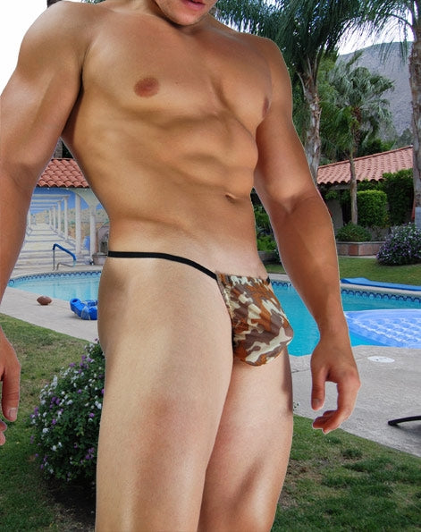 Brown Camo Sheer Mens G-String