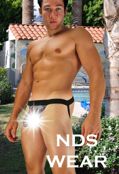 Grey Racer Sheer Jockstrap Clearance