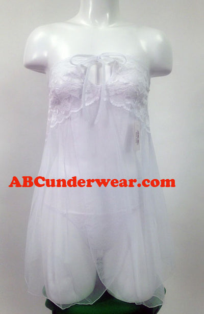 Sheer Women's Babydoll Set