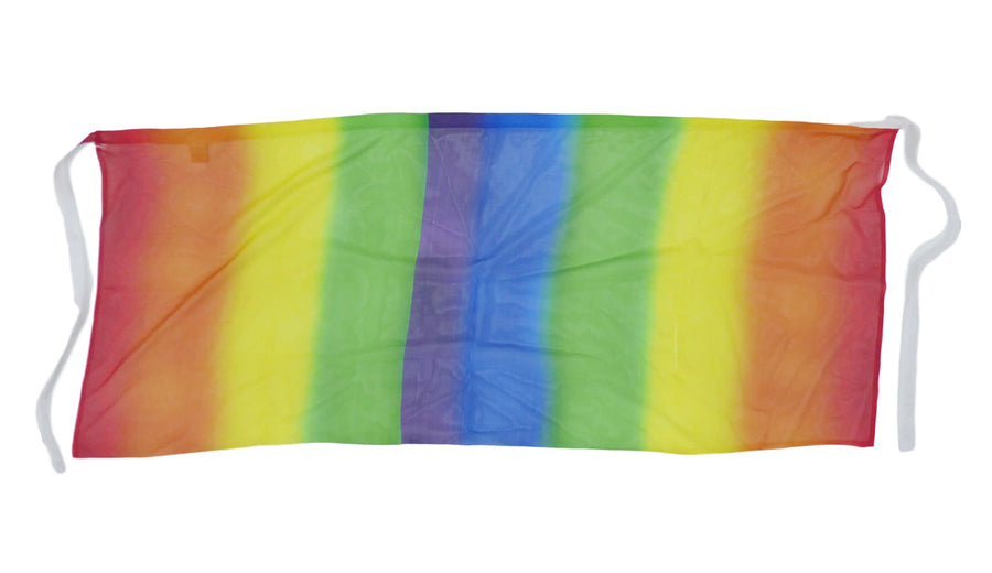 Rainbow Sheer Mini Sarong Wrap