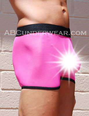 Sheer Neon Pouch Short