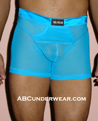 Sheer Net Boxer