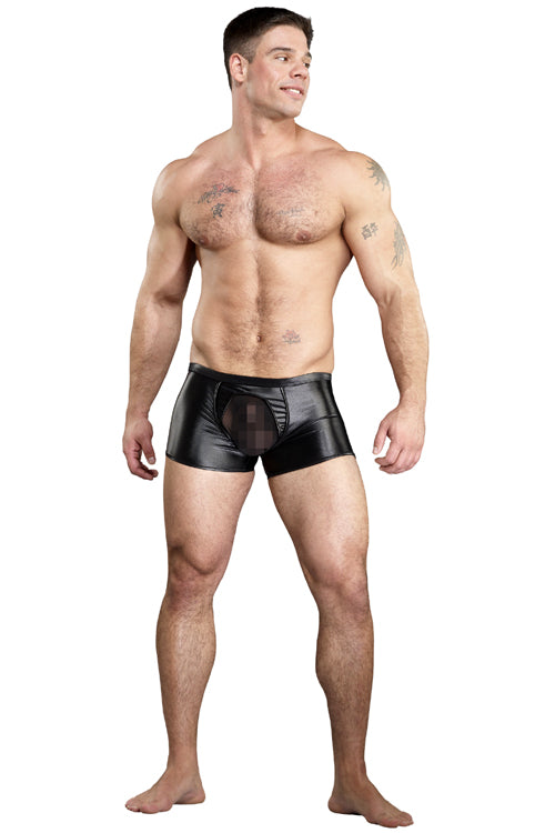 Mens Sheer Pouch Pleather Trunk - CLoseout