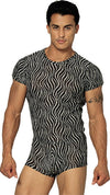 Sheer Embossed Zebra Short - Clearance Large
