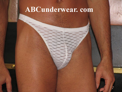 Sheer Slash Men's Thong - Small Closeout