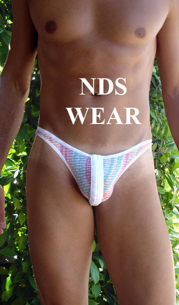 Rainbow Sherbert Clip Thong for Men