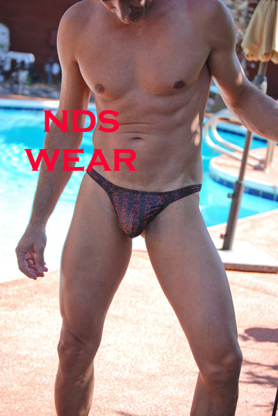 Male Thong - Shimmer Red Night Thong