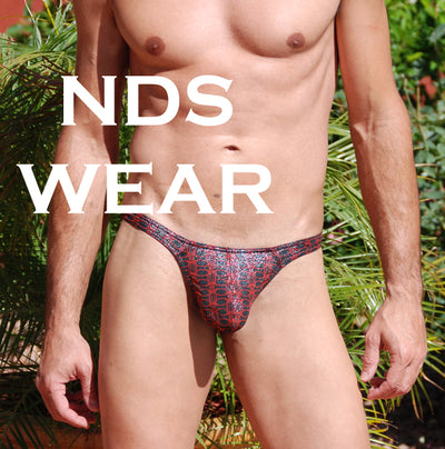 Male Thong - Shimmer Red Night Thong for Men