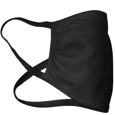 CUSTOM Image or Text 100% Black cotton Face Mask - 3 Layer Face Cover - Made in the USA