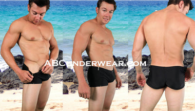 Side Zip Men's Swimsuit By NDS WEAR