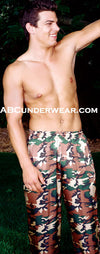 Camouflage Silk Lounge Pant - Clearance