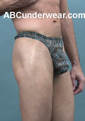 Chiffon Silk Leopard Men's Thong