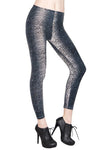 Plus Size Silver Leopard Patterned Leggings