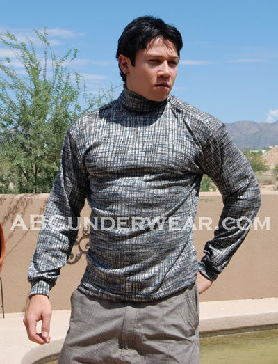Silver Glimmer Turtleneck Shirt