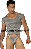 Silver Snake Thong for Men