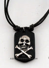 Skull Necklace/Choker on Double Leather Cord