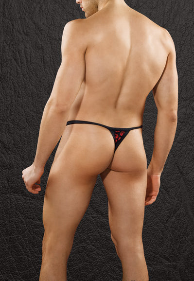 Black and Red Skull Thong Small Clearance