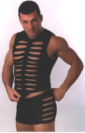 Slash Mesh Muscle Shirt