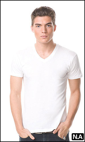 Fashion Slim Fit V-Neck Short Sleeve T-shirt - Closeout