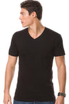 Fashion Mens Slim Fit V-Neck Short Sleeve T-shirt - Closeout