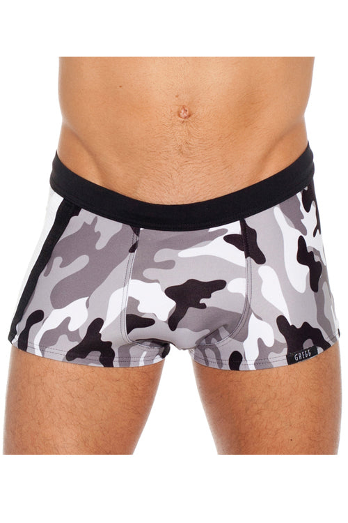 b4348ff6187 Solstice Gray Camo Swim Trunk by Gregg Homme