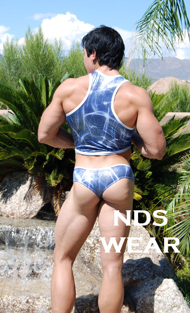 Brazilian Blue Sparkle Men's Thong for Men