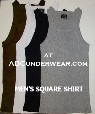 Men's Solid Square Cut Tank 2 Pack