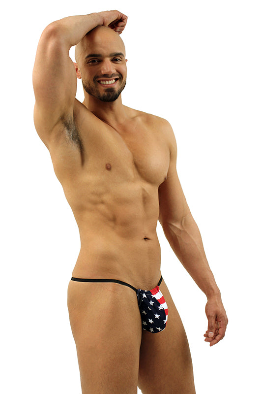 Mens American Flag Stars and Stripes G-String