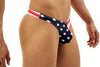 American Flag Stars and Stripes Thong Swimsuit