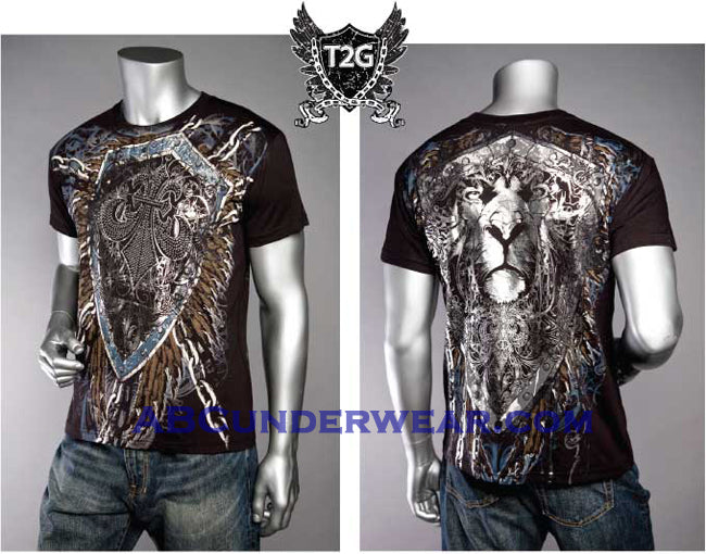 Designer Stone Print Lion & Shield