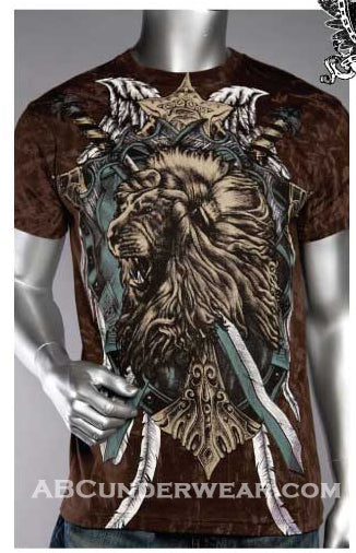 Stone Print Lion & Sword T-Shirt