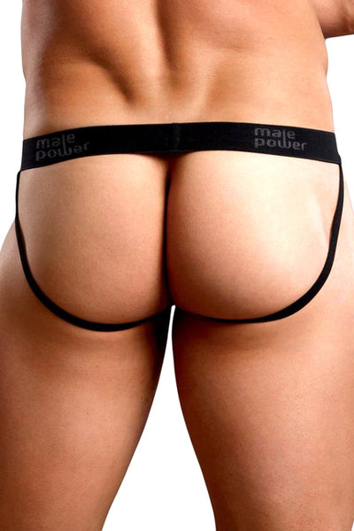 Stretch Lace Jockstrap Underwear - Black