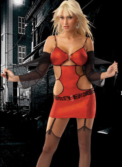 Women's Strip Tease Girl Costume