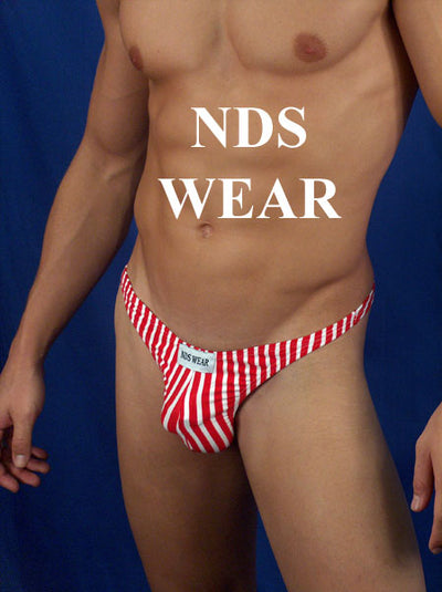 Men's Stripe Thong - XXL Closeout