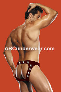 Colonel Studded Cire - Backless Underwear - Mens