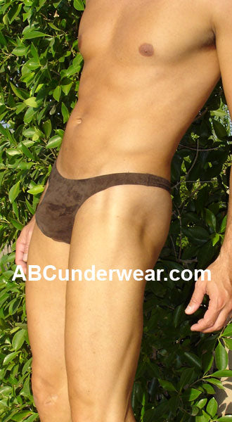 Sauvage Suede Thong for Men