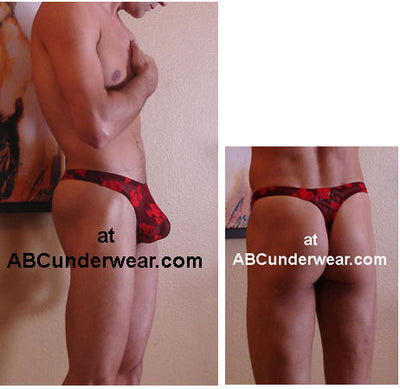 Men's Sheer Sweetheart Thong - Small Clearance