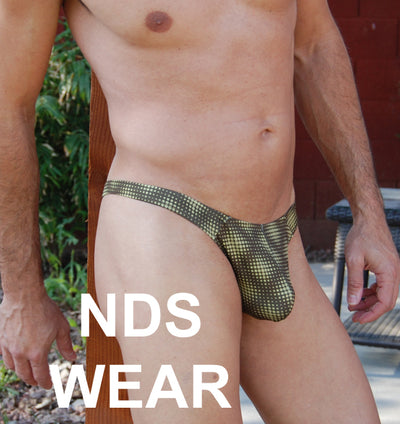 Mens Optical Army Thong
