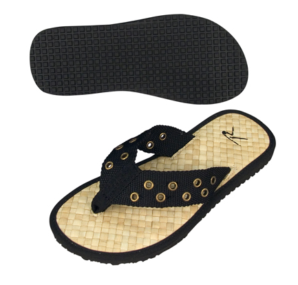 Men's Thong Sandals - Black Pistol Belt Sandals